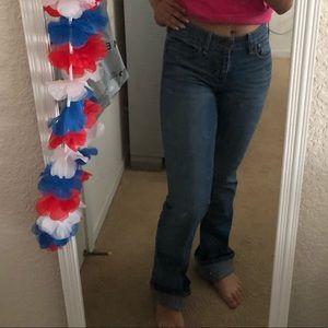 Dark wash Hollister boot cut jeans